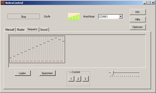 NobraControl 2.0 Modul zur Erstellung und Speicherung von Stimulationssequenzen