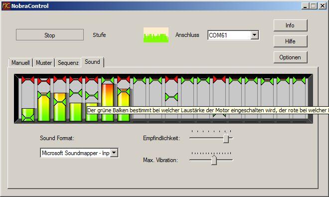 NobraControl 2.0 Modul zur soundgekoppelten Vibratorsteuerung